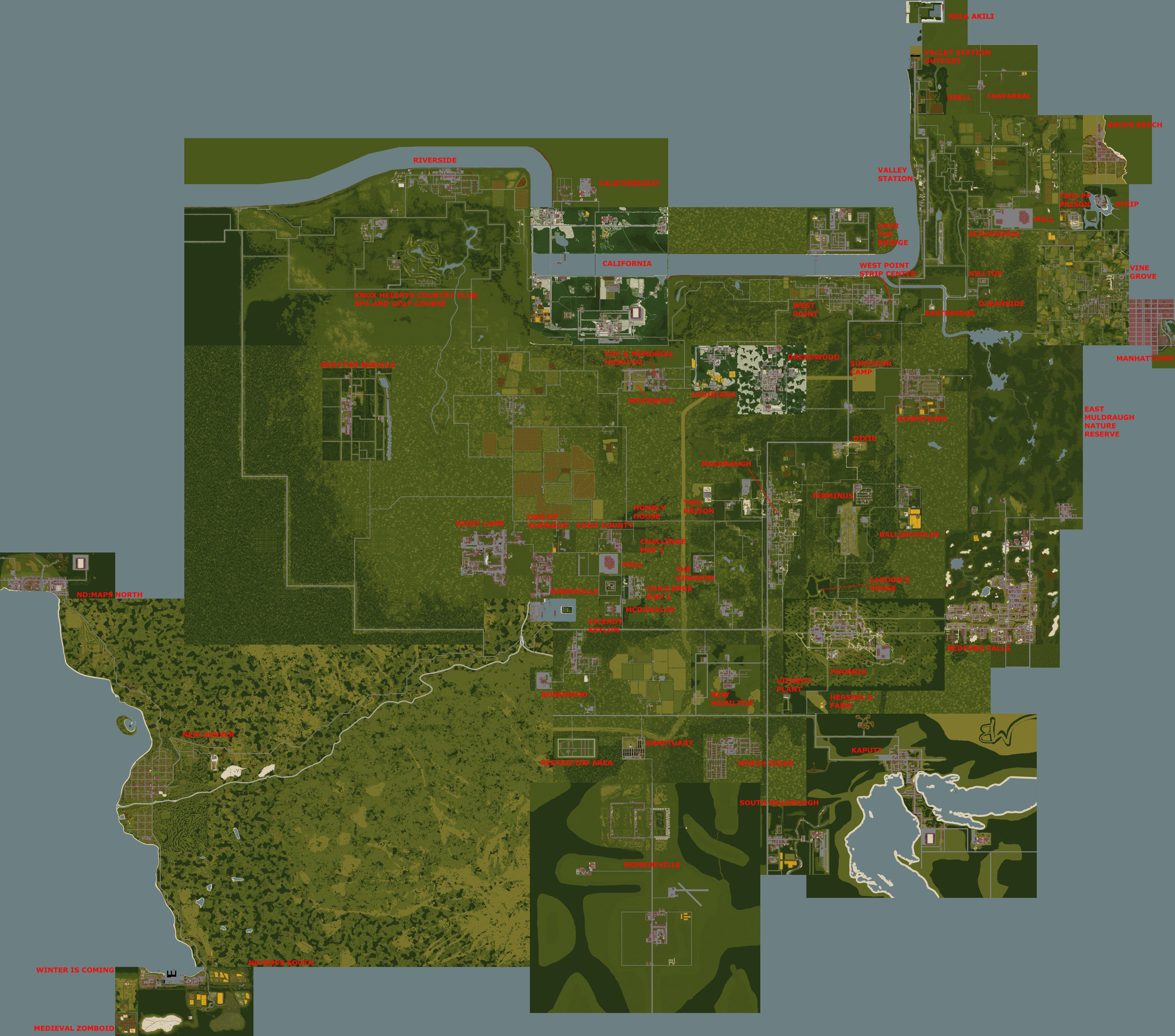Project Zomboid Map I'd love